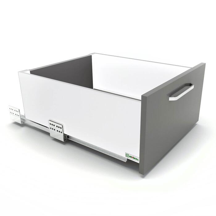 Szuflada SEVROLLBOX SLIM (biała), wysoka, 450 mm