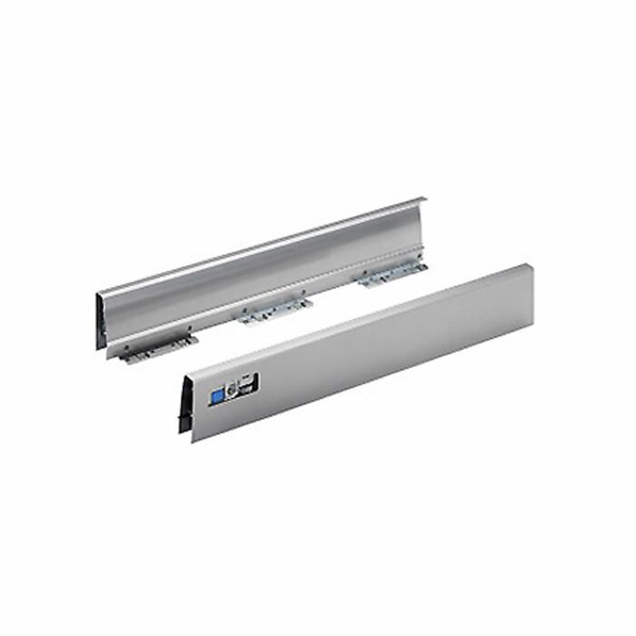 Innotech - Bok szuflady podpiekarnikowej, L-470 PRAWY, srebrny, 470 mm