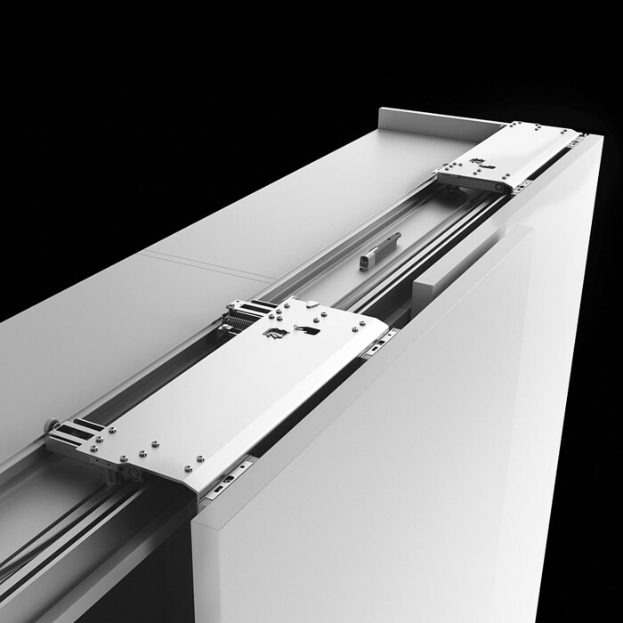 System okuć do drzwi przesuwnych nakładanych Slider M50 , 2-drzwi