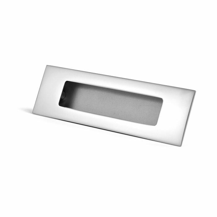Uchwyt meblowy wpuszczany E6 096 aluminium, 96 mm