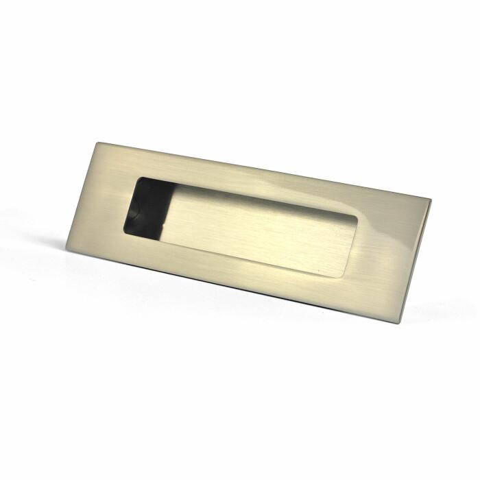 Uchwyt meblowy wpuszczany E6 128 inox, 128 mm