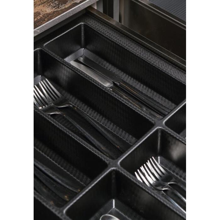 Wkład na sztućce CLASSICO-KRISTALL, do szuflady 900mm, czarny