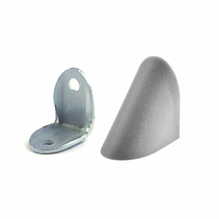 Kątownik metalowy z osłoną plastikową, popiel