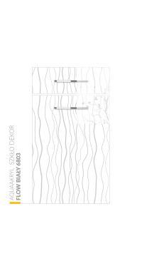 Aquaakryl Szkło DEKOR - Flow Biały 6803