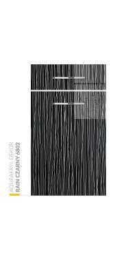 Aquaakryl Szkło DEKOR - Rain Czarny 6802